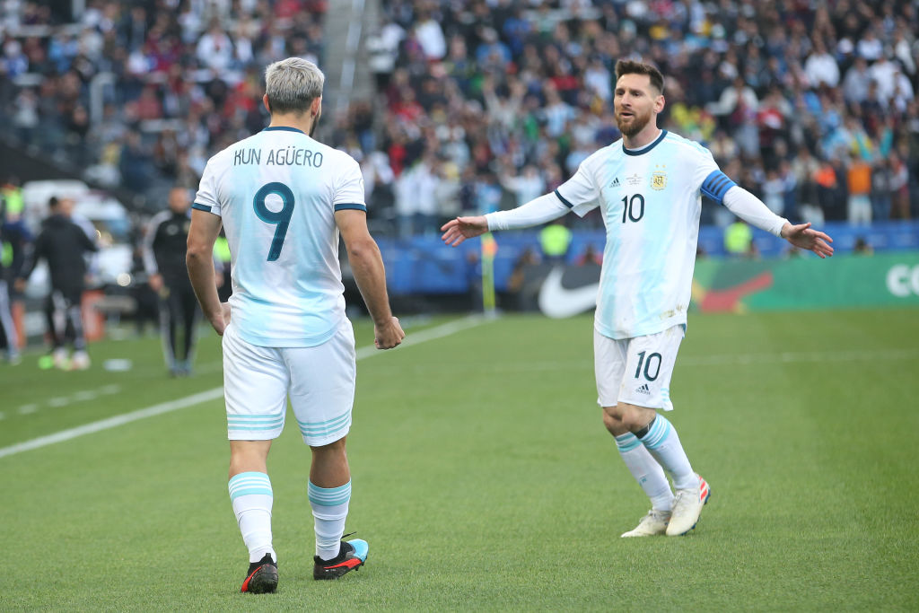 Agüero y Messi con la selección argentina