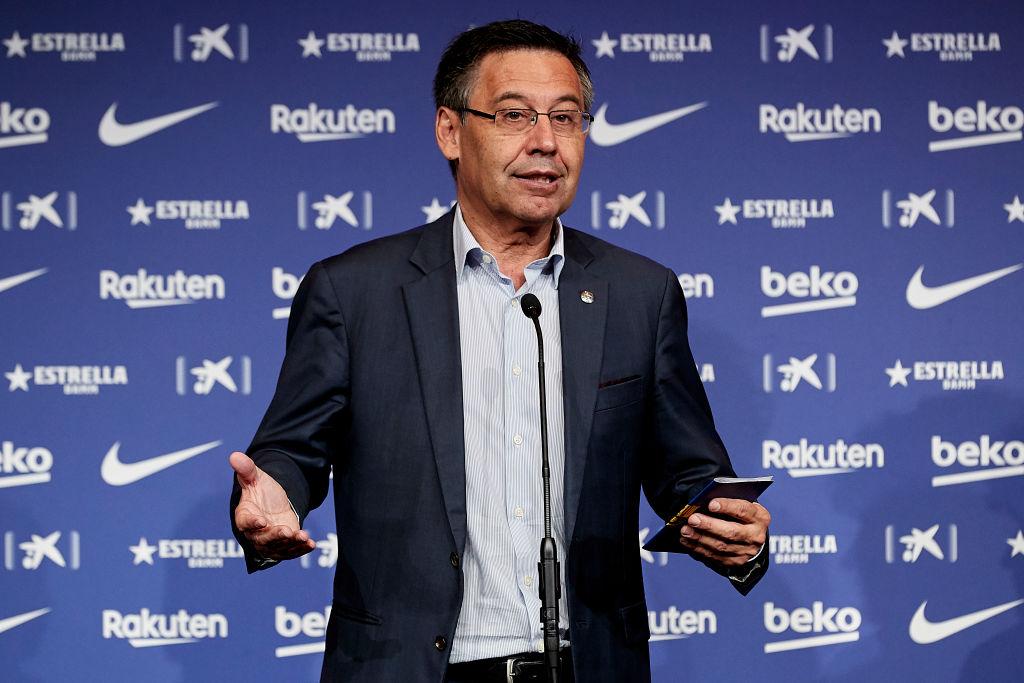 Bartomeu como presidente del Barcelona