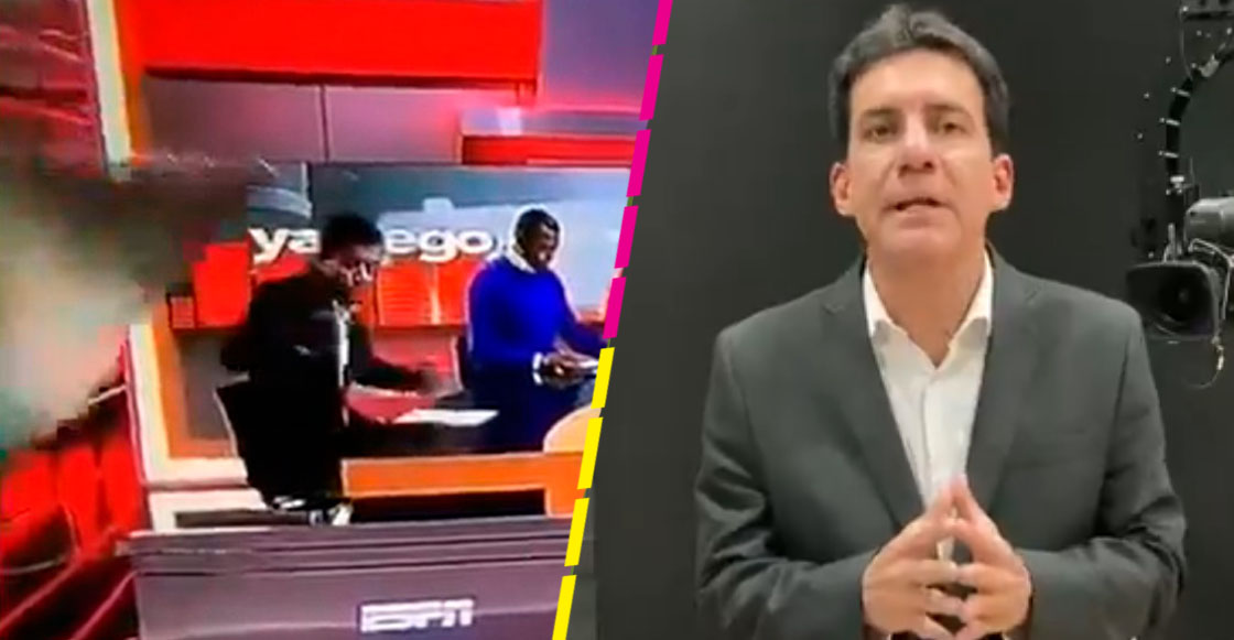 Carlos Orduz, periodista que recibió un golpe de la escenografía de ESPN