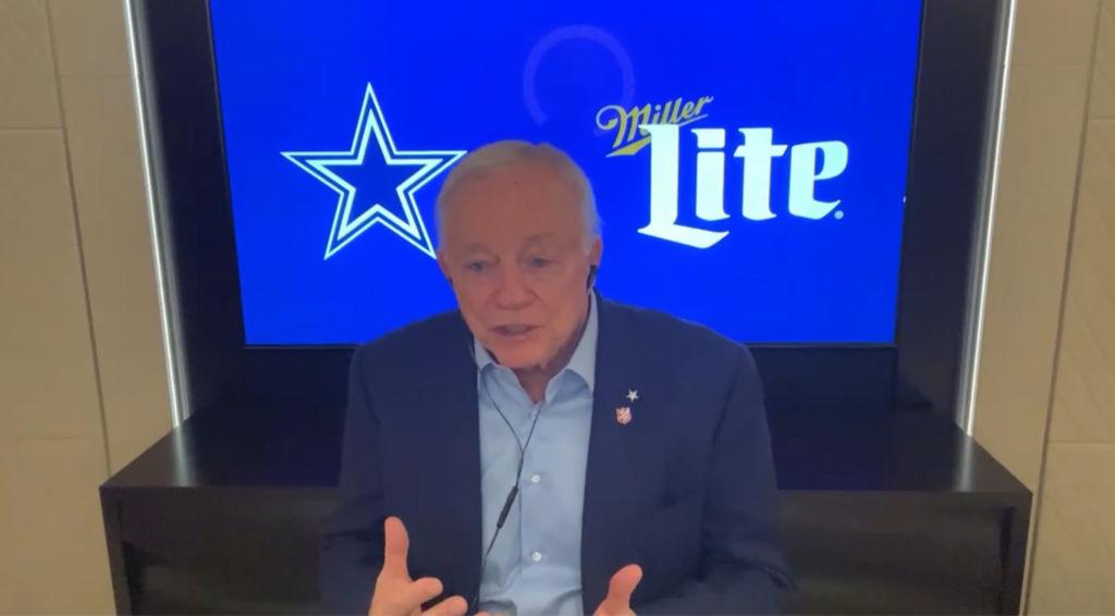 Jerry Jones dueño de Dallas Cowboys en el Draft 2020