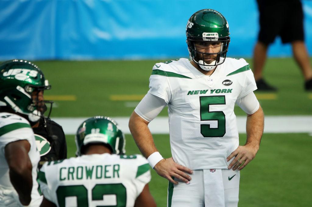 Joe Flacco con Jets en la temporada 2020