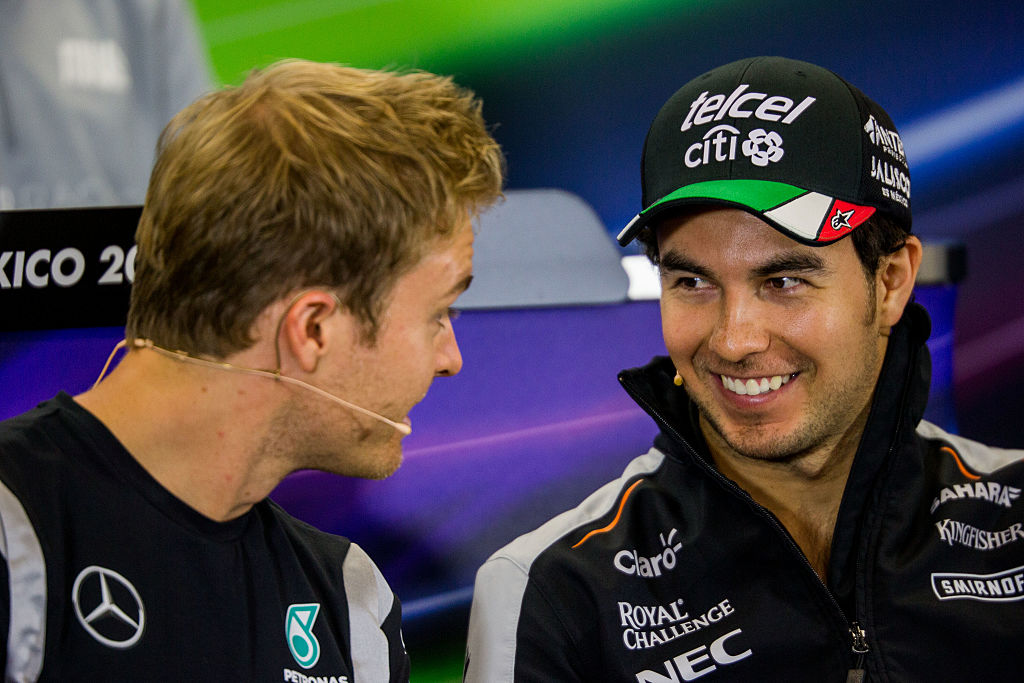 Nico Rosberg y Checo Pérez