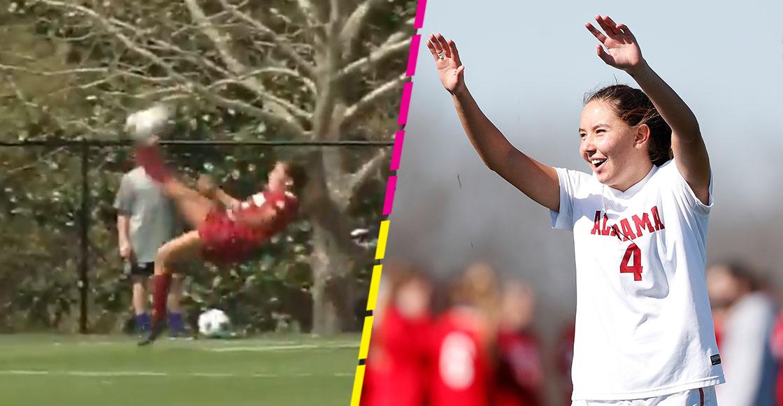 Tanna Sánchez marcó de chilena para Alabama