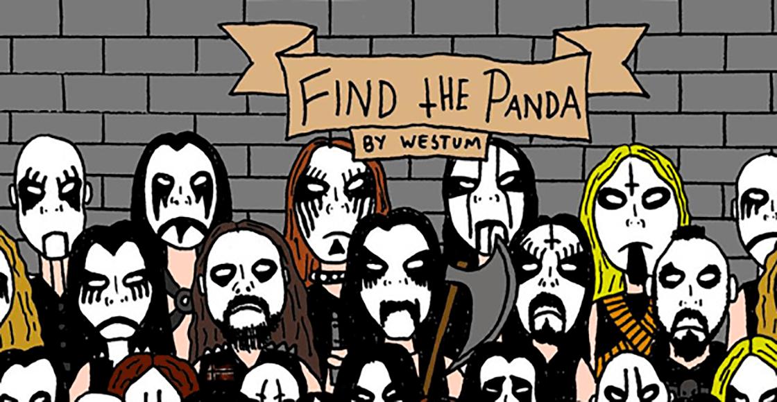 ¿Puedes encontrar al panda en este reto visual blackmetalero?