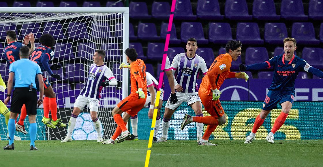 Gol de Bono, portero del Sevilla