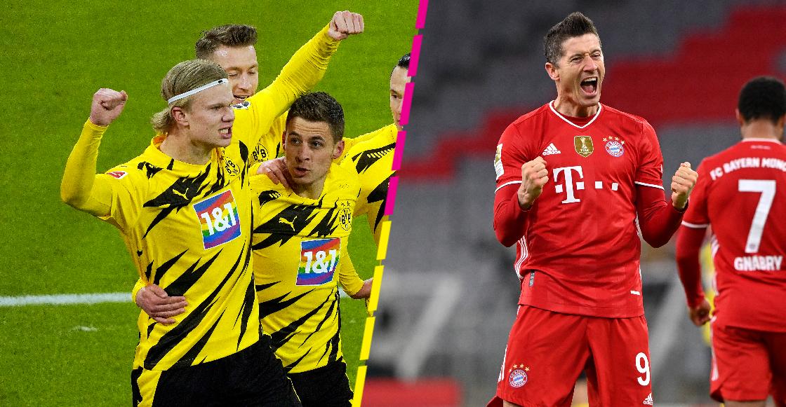 Lewandowski se chamaqueó bonito a Haaland en el Bayern vs Dortmund