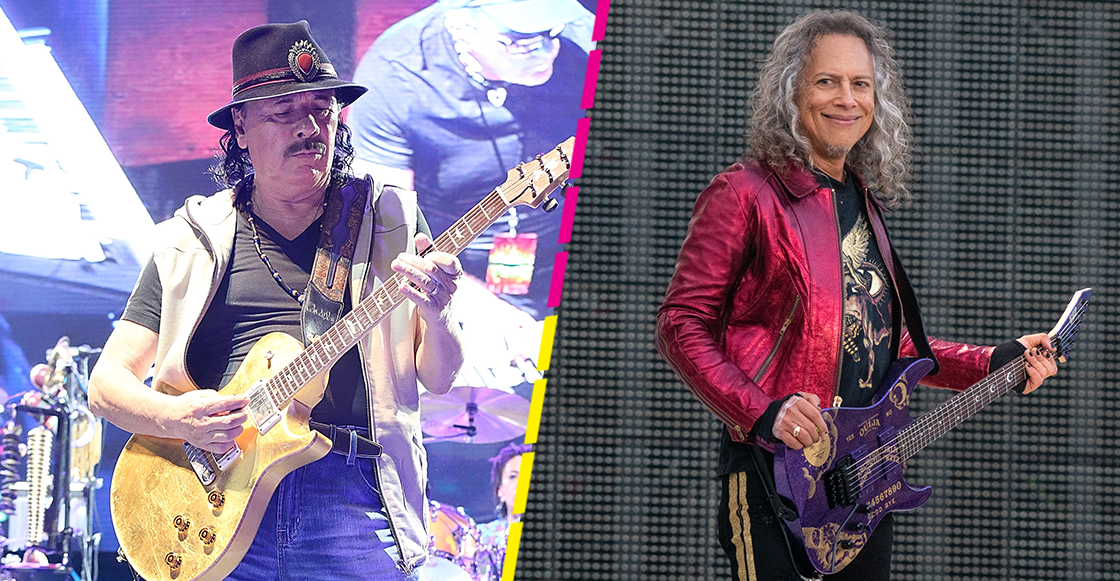 Ah, prro: Kirk Hammett aparecerá en el nuevo disco de Carlos Santana