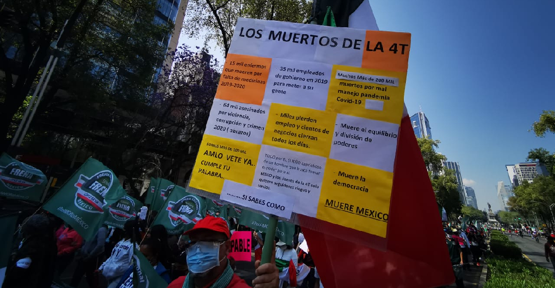 """FRENA organiza nueva marcha en la CDMX para hacerle un """"juicio ciudadano"""" a AMLO"""