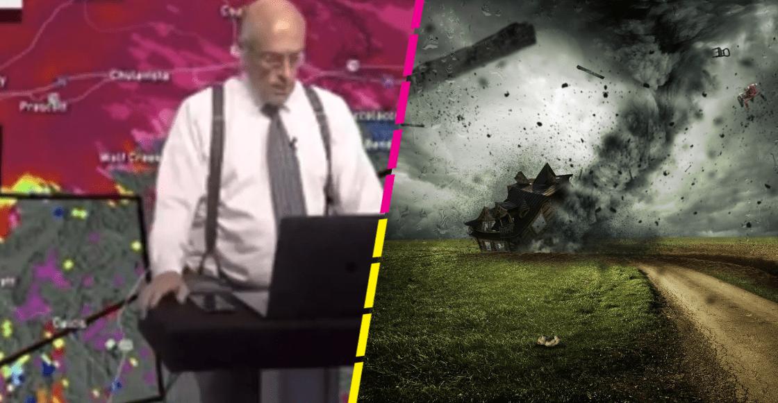 Meteorólogo descubre en plena transmisión que un tornado se acercaba a su casa