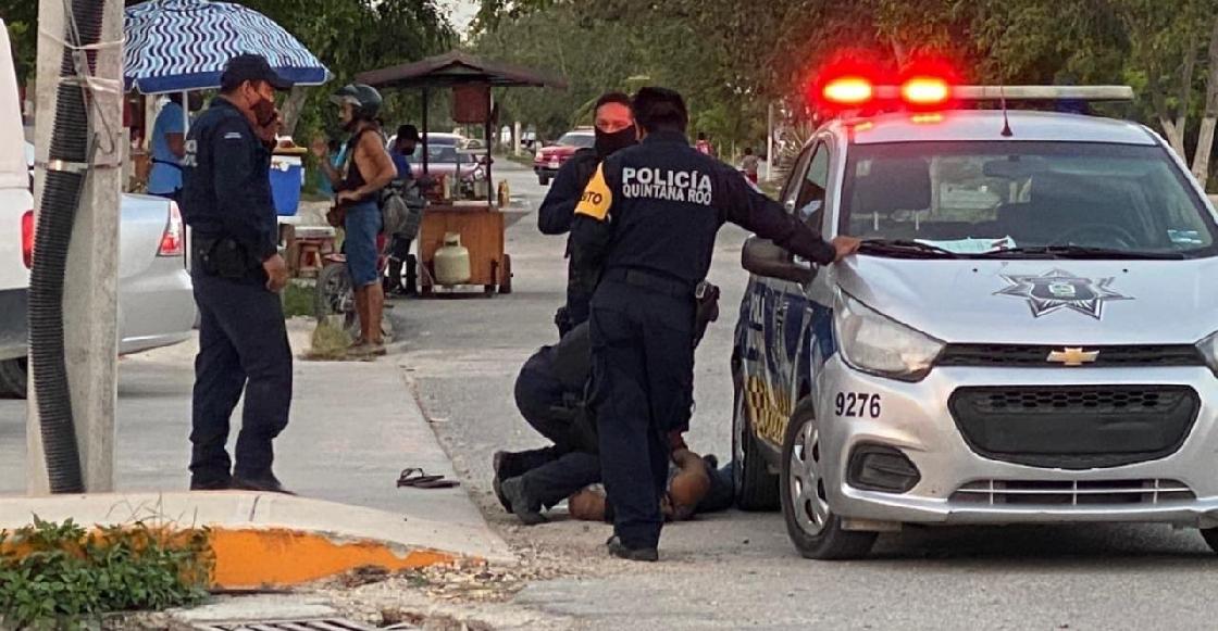 Una mujer murió cuando era sometida por policías de Tulum