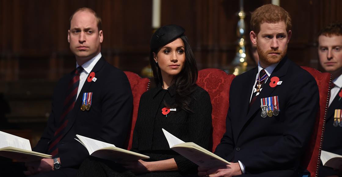 Príncipe William, Meghan Markle y Príncipe Harry