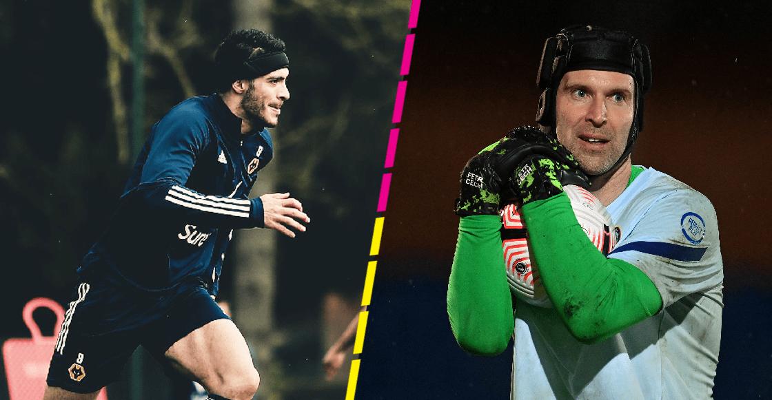 ¿Por qué la protección de Raúl Jiménez es diferente a la de Cech y qué función tiene?