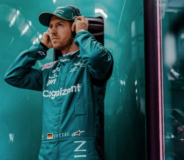 Sebastian Vettel con Aston Martin