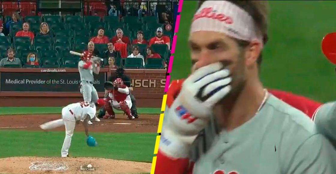 ¿Cómo se encuentra Bryce Harper tras de un golpe al rostro con una pelota a 156 km/h?