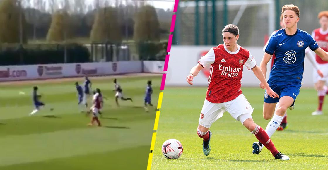 ¡Tienes que verlo! Marcelo Flores y el golazo que hizo con el Arsenal juvenil
