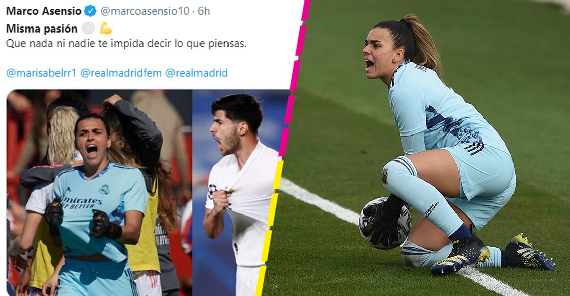 ¿Por qué jugadores del Real Madrid publican imagen de la portera del equipo femenil?