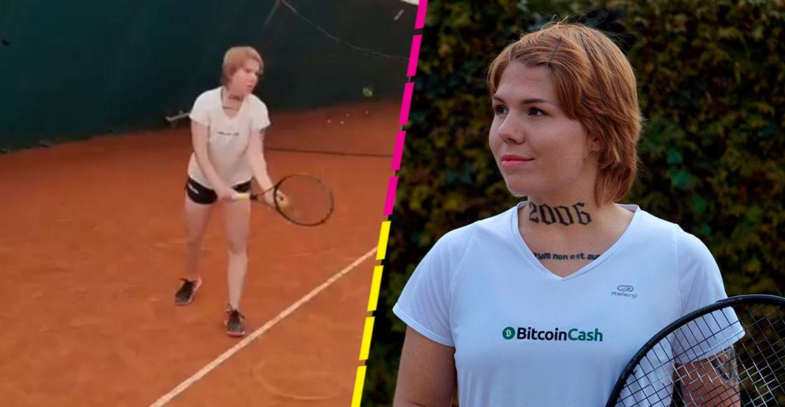 WTF? Tenista croata vende parte de su cuerpo para usarlo como espacio publicitario