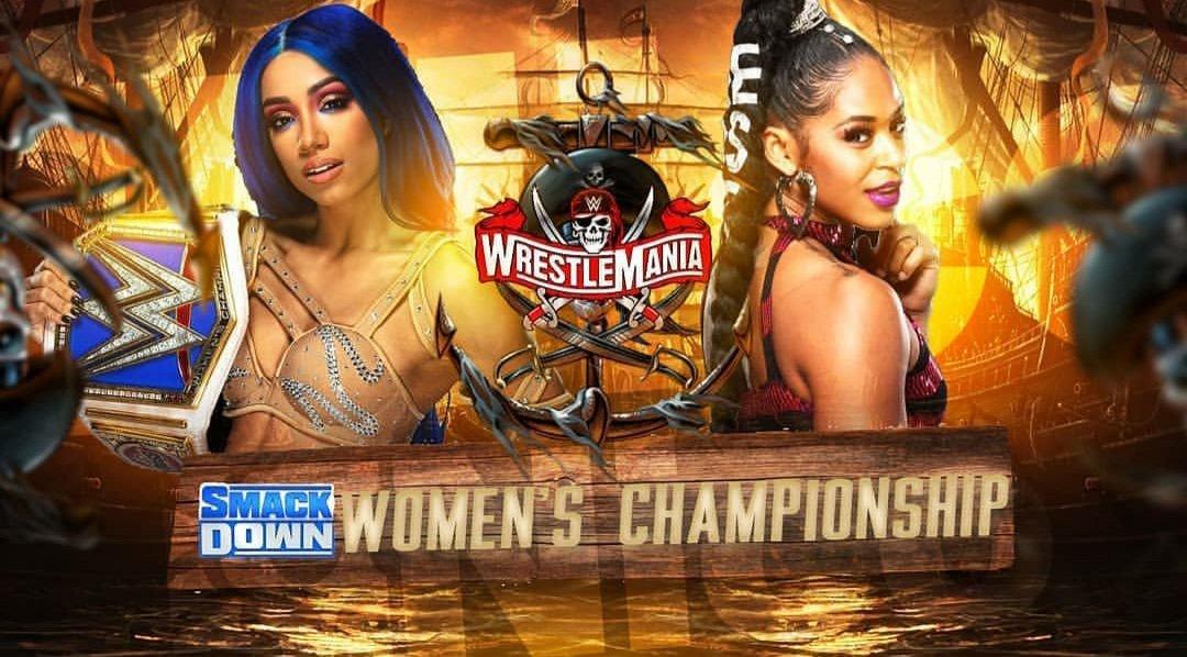Sasha Banks vs Bianca Belair en Wrestlemania 37