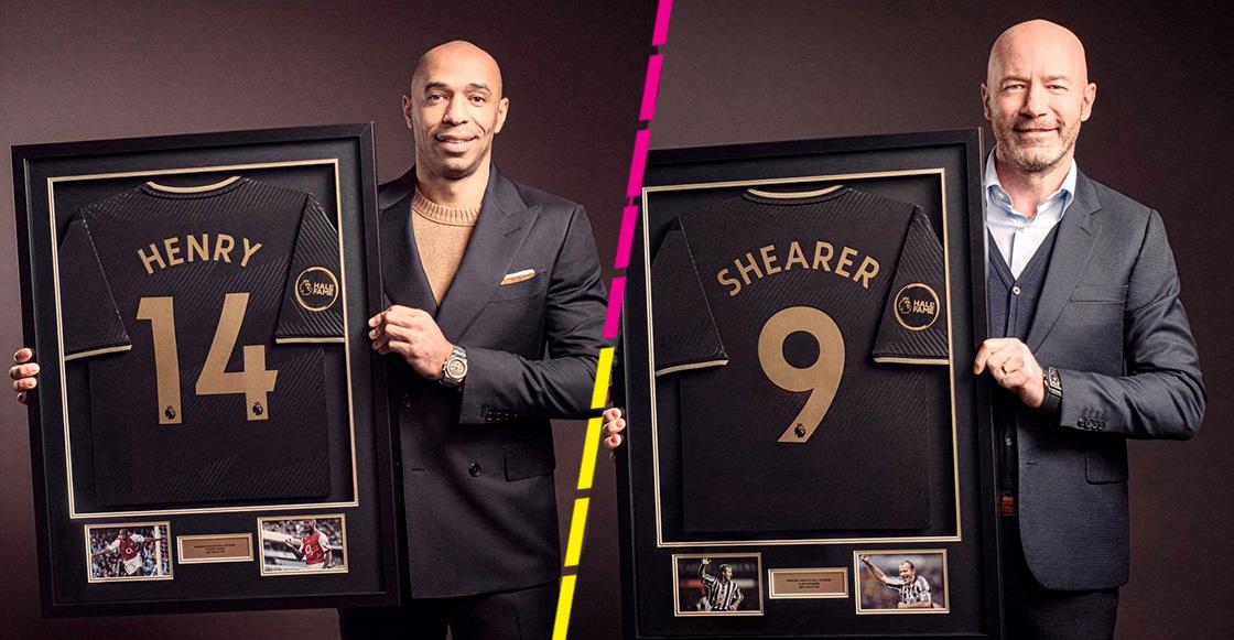 Thierry Henry y Alan Shearer son los primeros 2 miembros del Salón de la Fama de la Premier League