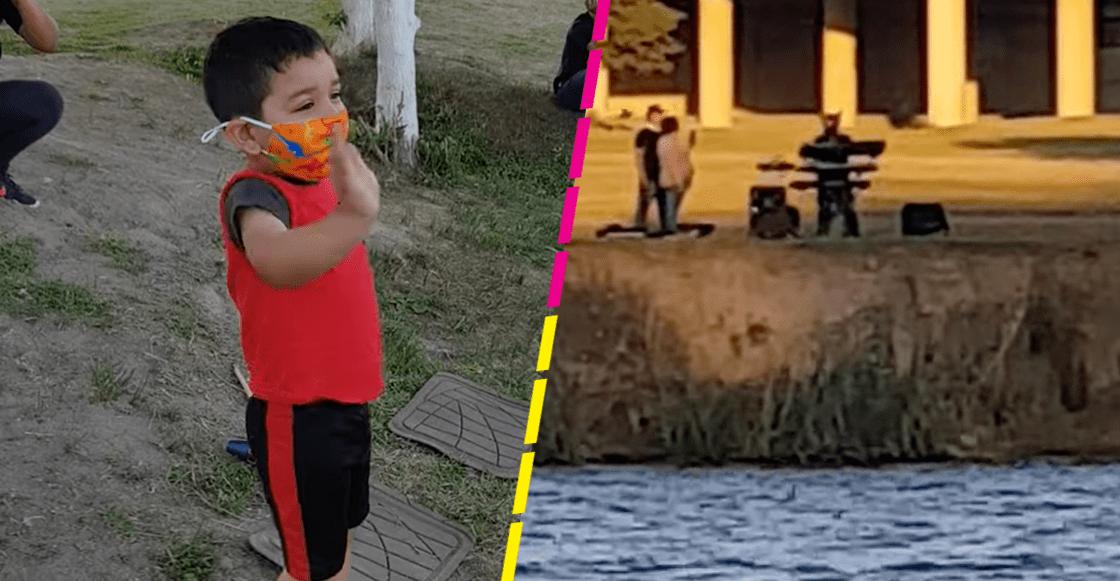 """""""Te amo mucho"""": Abuelito le canta """"Las mañanitas"""" a su nieto desde la frontera"""