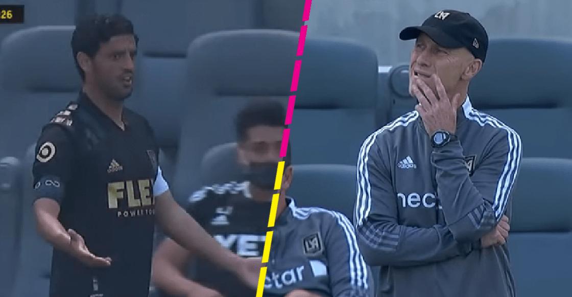 En enojo de Carlos Vela tras ser sustituido por error a los 22 minutos con el LAFC