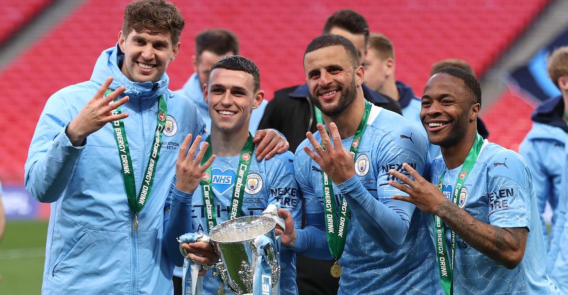 Manchester City conquista la Carabao Cup, la primera de tres coronas a las que aspira con Guardiola