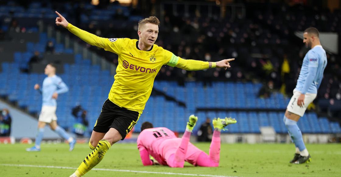 Marco Reus termina la racha de imbatibilidad del Manchester City en la Champions