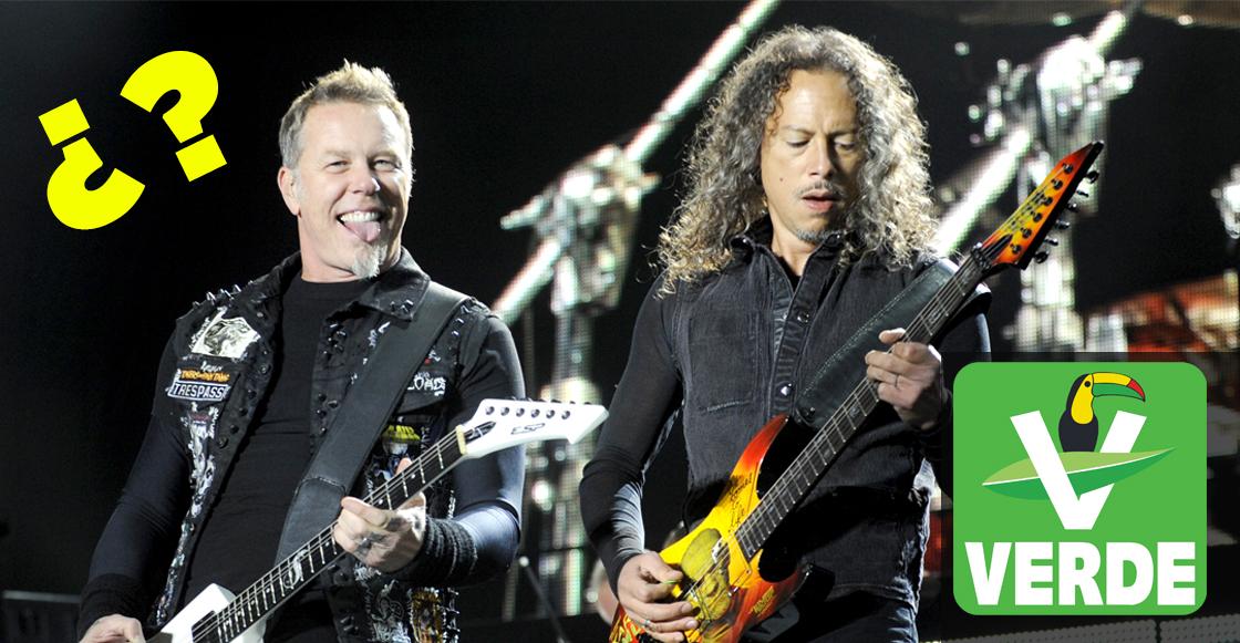 Candidato del partido verde promete traer a Metallica