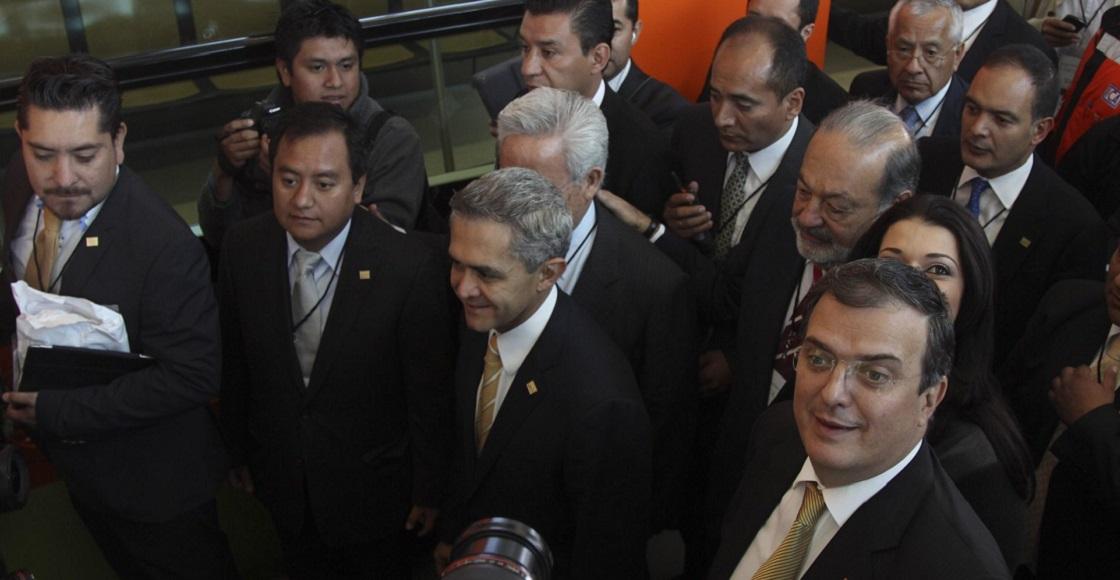 Marcelo Ebrard y Miguel Angel mancera Linea 12