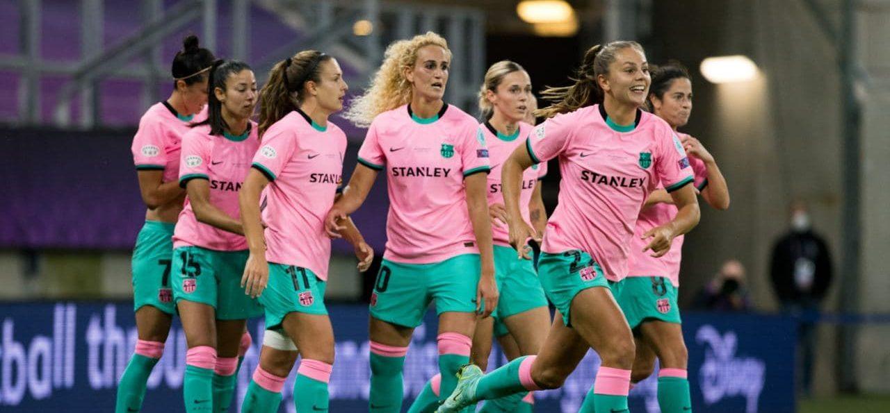 Los goles con los que el Barcelona consumó su primer título de Champions Femenil