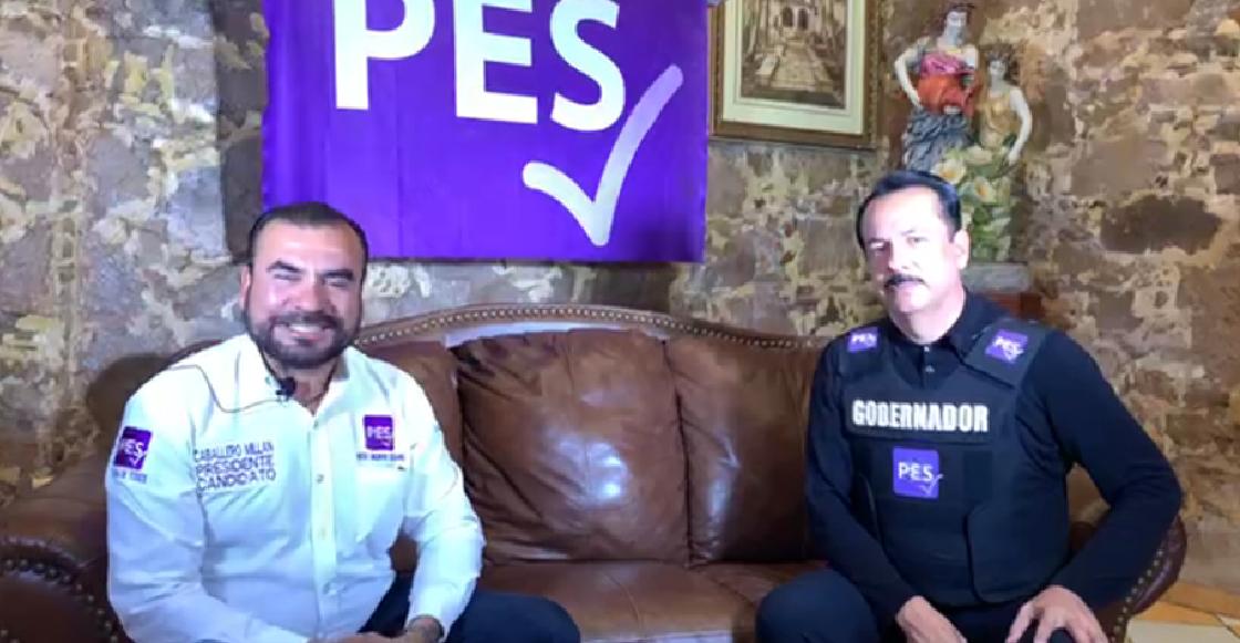 Candidato del PES en Sinaloa hace campaña con chaleco antibalas