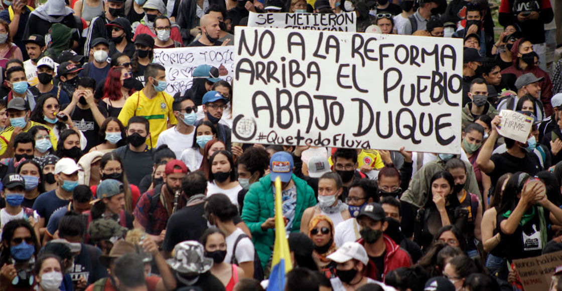 Colombia demonstration by Ivan Duque