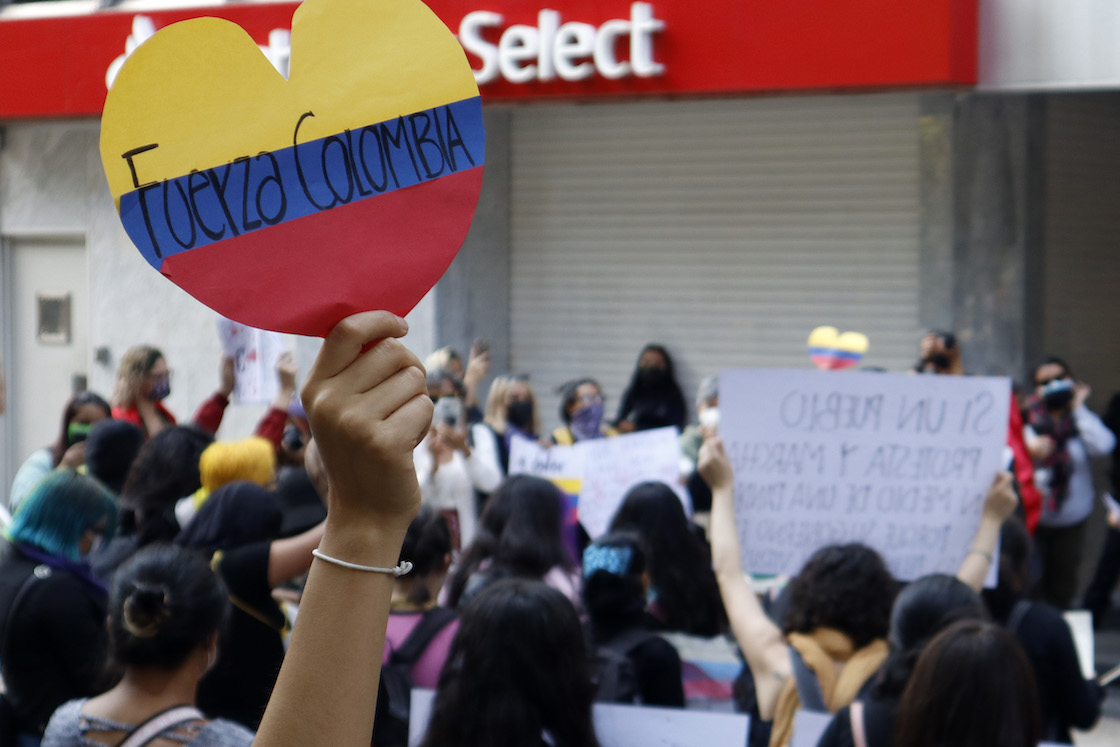 Colombia protests against Mexico
