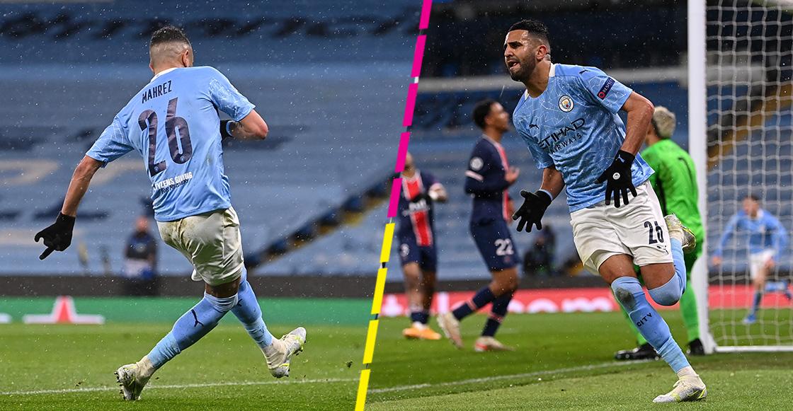 ¡Doblete de Mahrez! Manchester City es el primer finalista de la Champions League
