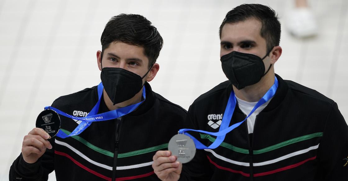 ¡Sólo entrenador dos semanas! Iván García y Randal Willars ganan plaza olímpica en clavados