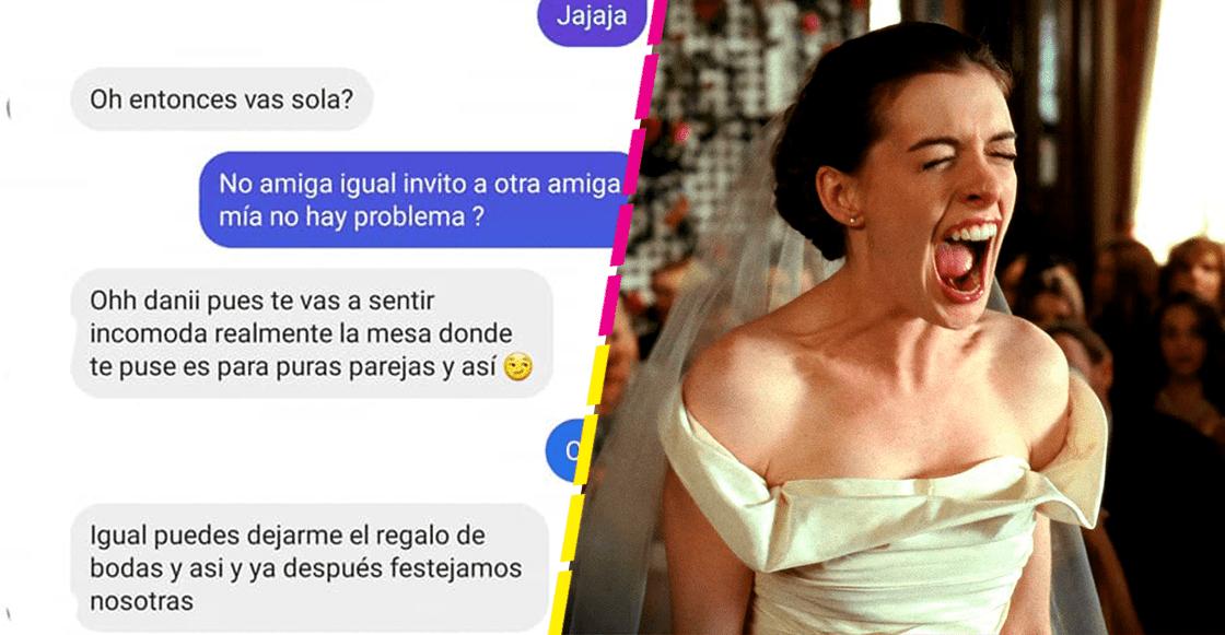 """Se agarraron del chongo: La historia de la mujer que """"des invitaron"""" de una boda por no tener pareja"""