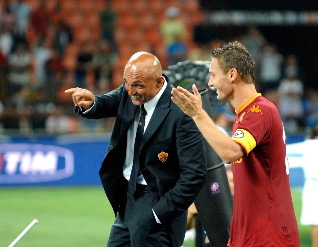 Luciano Spalletti y Totti