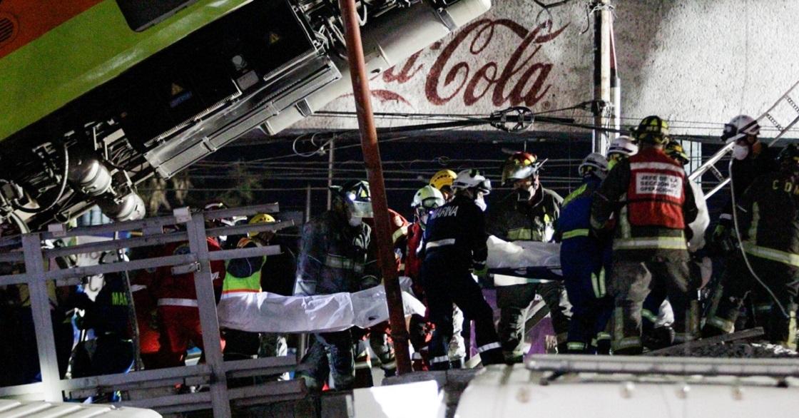CIUDAD DE MÉXICO, 05MAYO201.- Se registró un derrumbe de un tren que se dirigía hacia Tláhuac a la altura de la estación Olivos de la Línea 12 del Metro. El accidente dejó un saldo de 13 muertos y 70 heridos. Elementos de la Guardia Nacional y Protección acordonaron la zona, así mismo Claudia Sheinbaum, jefa de Gobierno ofreció un informe a los medios de comunicación.