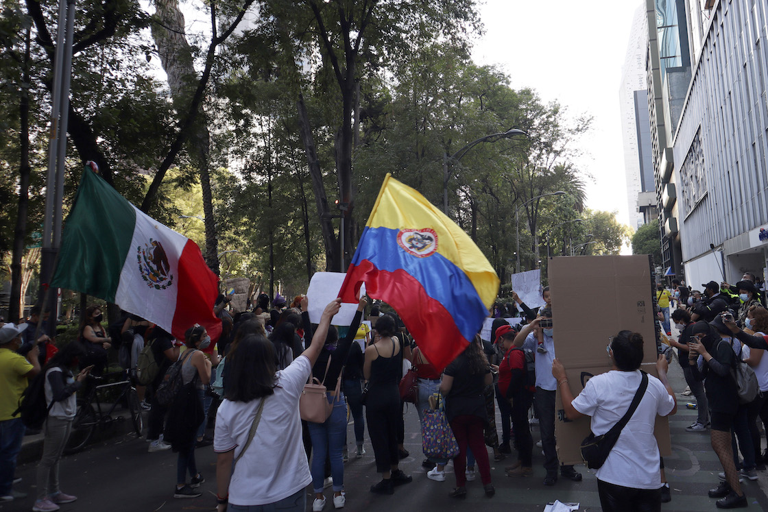 Protests in Mexico and Colombia