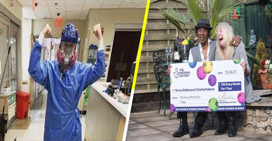Teresa Robinson: La enfermera en primera línea de COVID que ganó la lotería