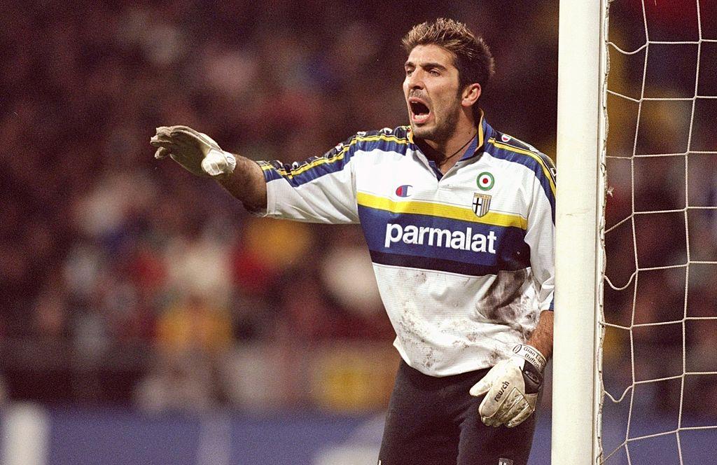 Buffon como portero del Parma