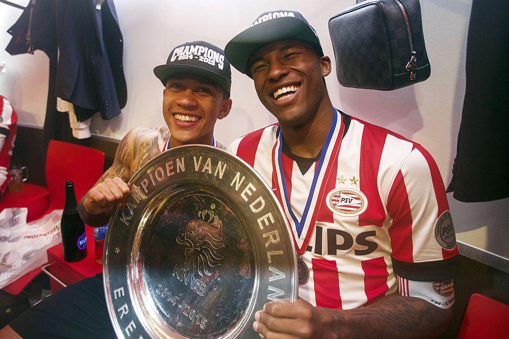 Georginio Wijnaldum campeón con el PSV Eindhoven