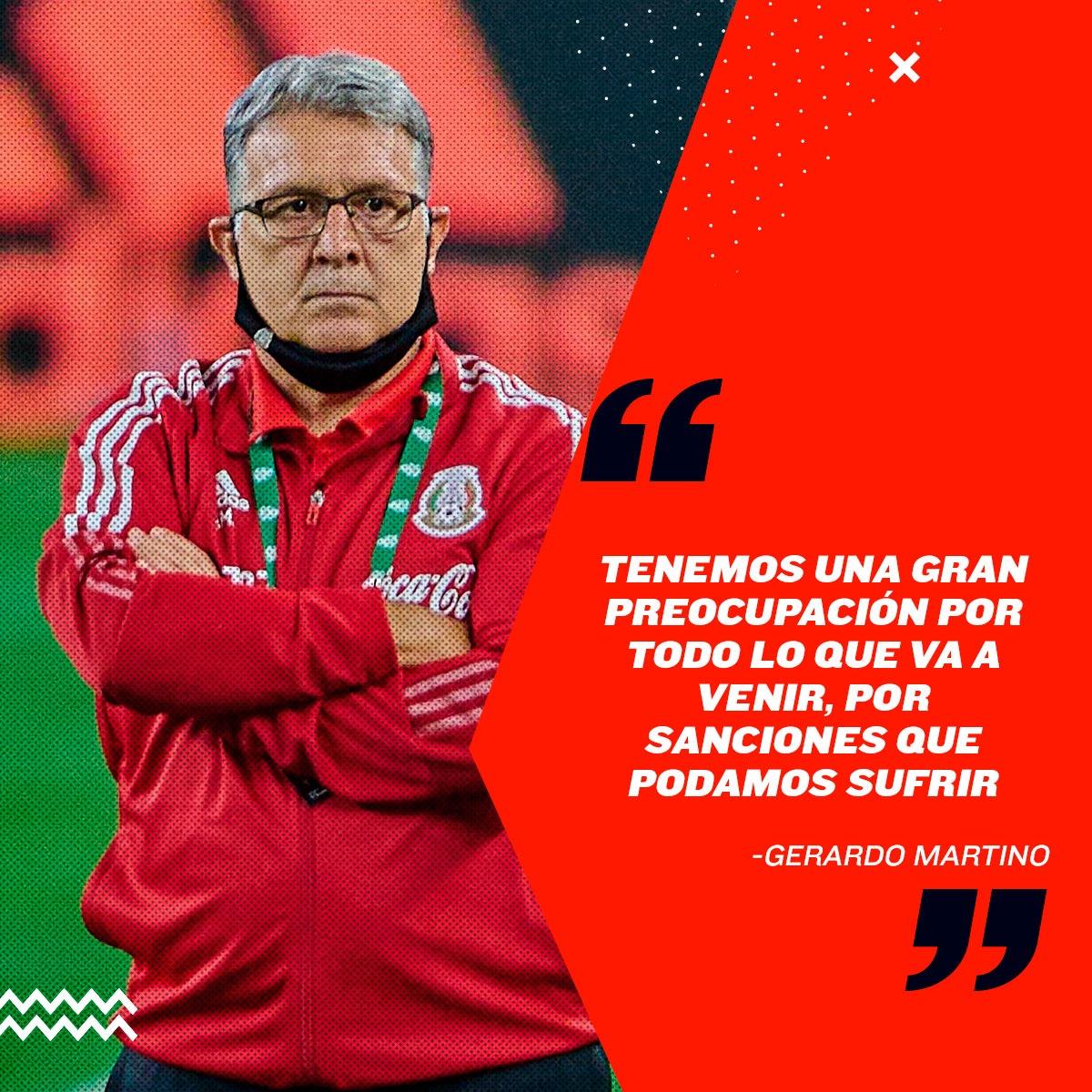 Declaración de Gerardo Martino sobre sanción a Selección Mexicana