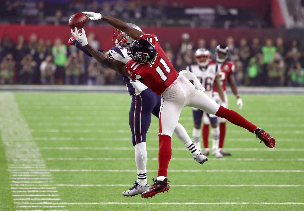 Julio Jones con los Falcons en el Super Bowl LI