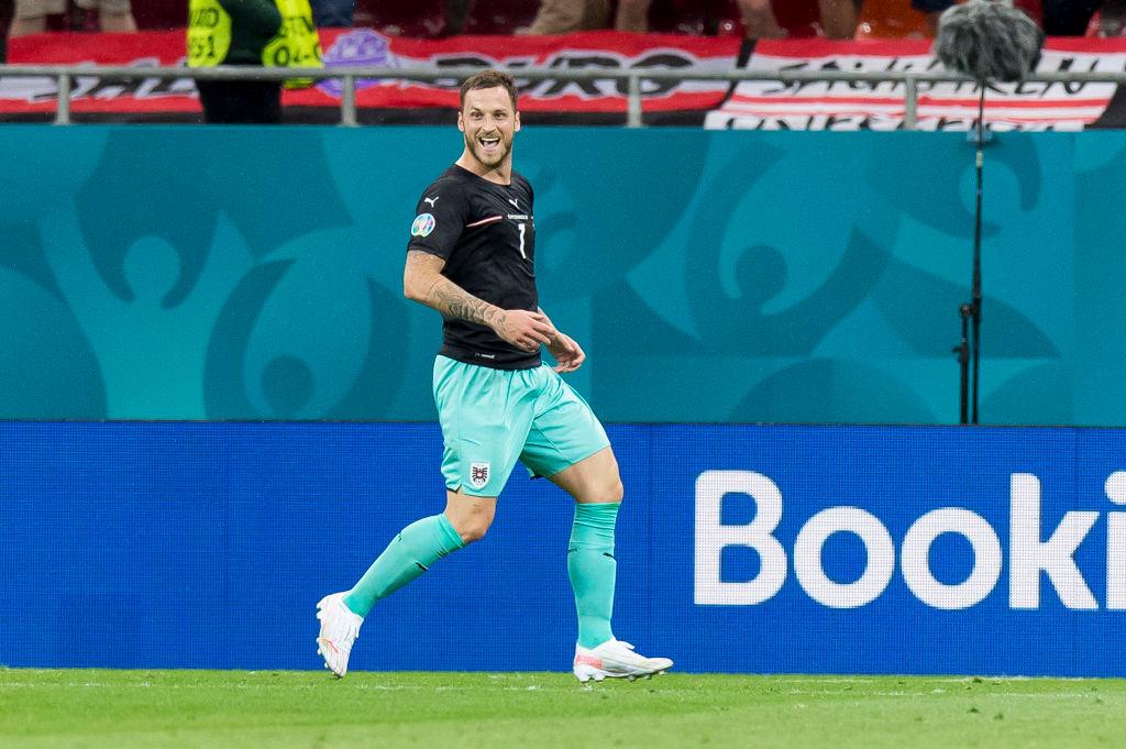 Marko Arnautovic celebra su gol contra Macedonia