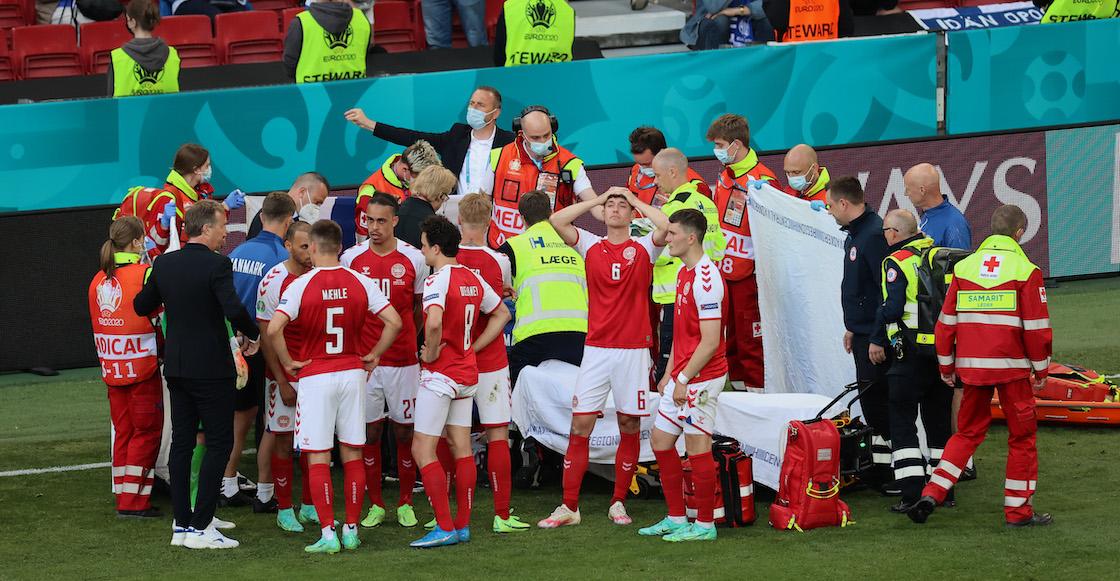 Reportan estable y consciente a Christian Eriksen tras desvanecerse en pleno partido de Dinamarca