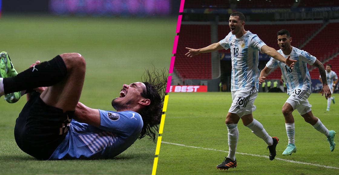 ¿Y el VAR? Argentina gana con gol de Guido Rodríguez y polémica por penal a Cavani