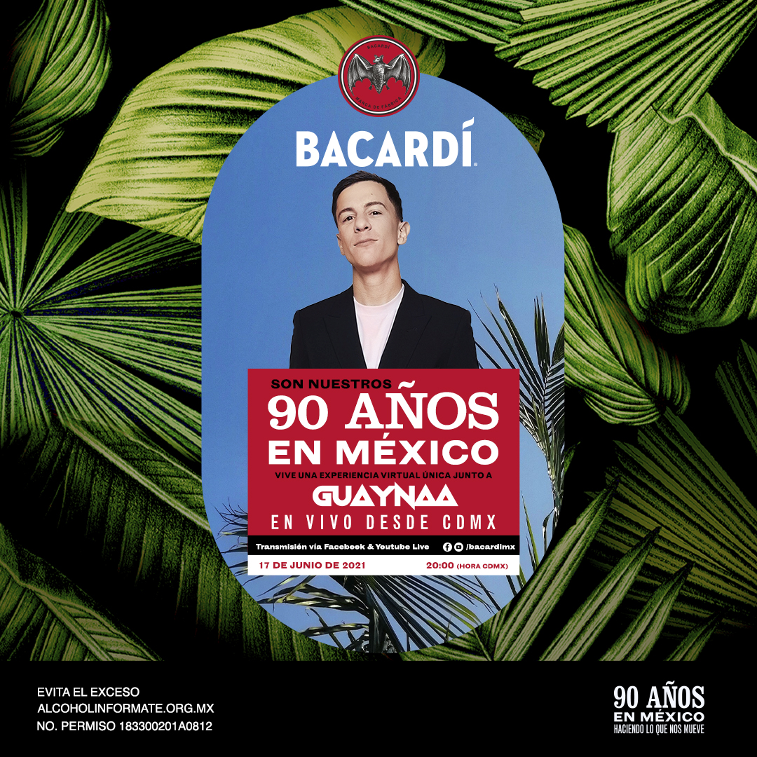 Guaynaa en concierto por 90 aniversario de Bacardi
