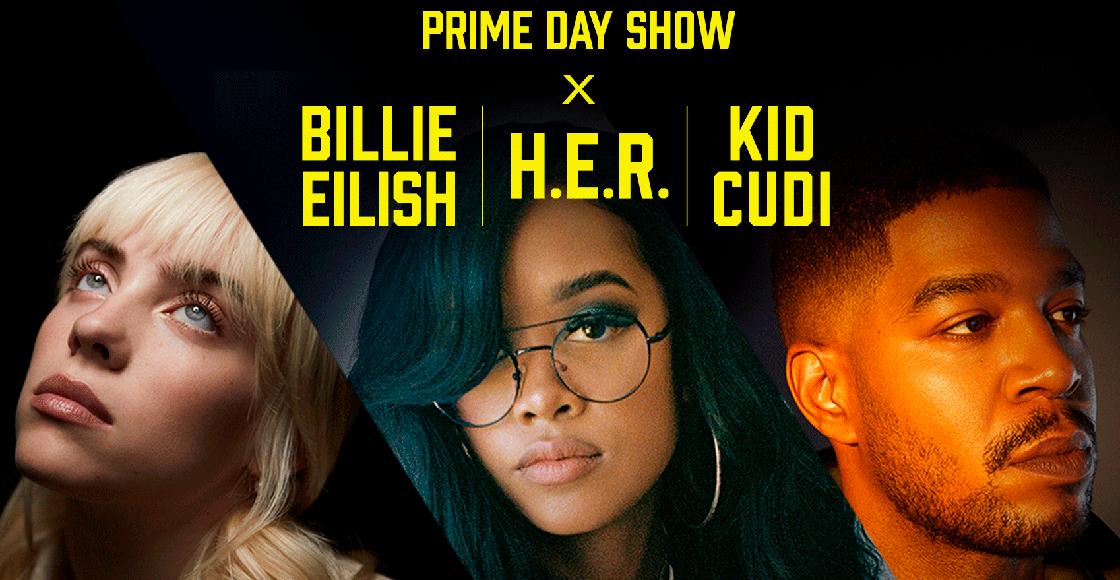 Billie Eilish, H.E.R. y Kid Cudi estarán en el Amazon Prime Day Concert 2021