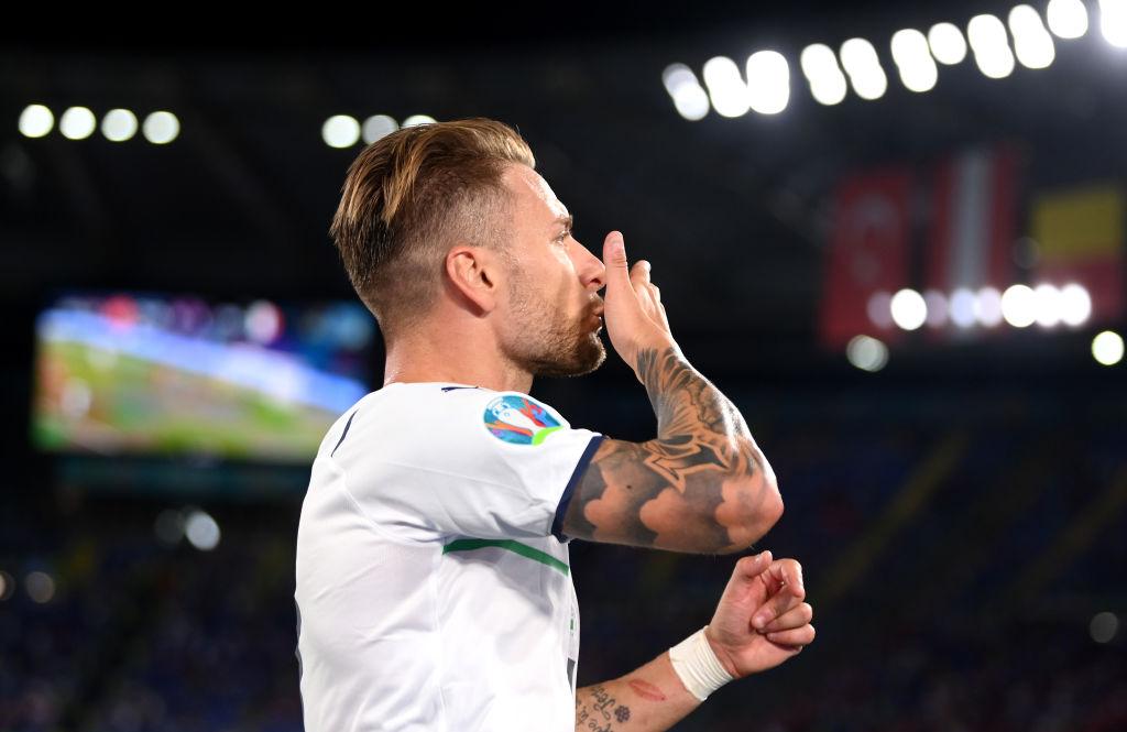 Ciro Immobile y su gol con Italia en la Euro 2020